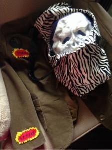 Half-assed jacket and skull ball in bag. Good enough? Yep, good enough!