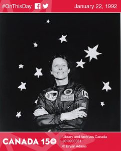 On January 22, 1992, astronaut Roberta Bondar became the first Canadian woman to go into space! Source: https://www.facebook.com/LibraryArchives/