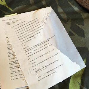 Shortly before I discovered what I needed to do with my novel, I discovered another important thing: If you take a draft of your novel to read in the tub, make sure there are no loose pages. #IDidNotCheck #WaterEnhanced #DoesNotCleanUpWell